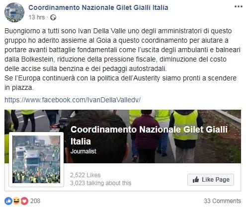 gilet gialli italiani ivan della valle- 1