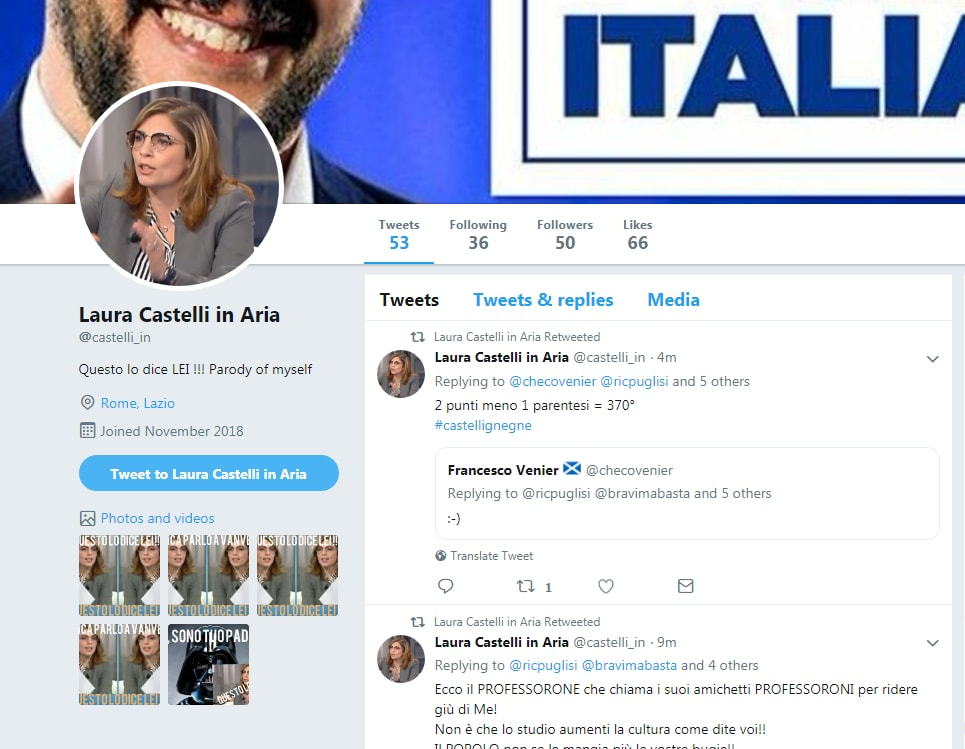 laura castelli fake twitter - 3