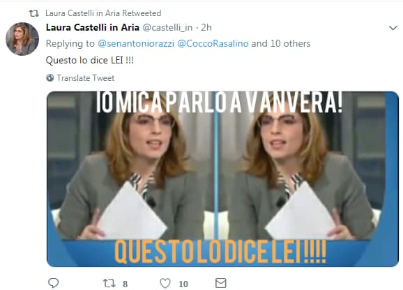 laura castelli fake twitter - 4