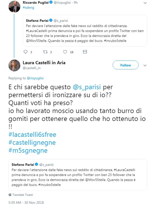 laura castelli fake twitter - 5
