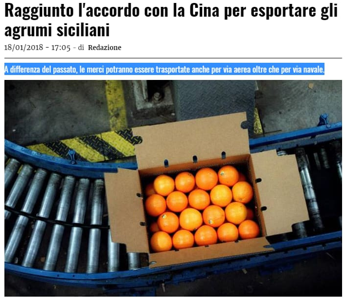 luigi di maio arance cina - 2