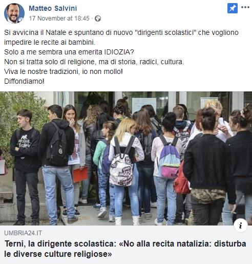 matteo salvini presepe 2018 terni natale - 4