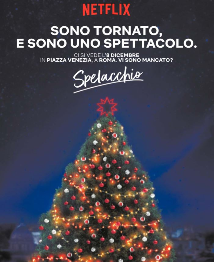 netflix spelacchio albero di natale piazza venezia 1