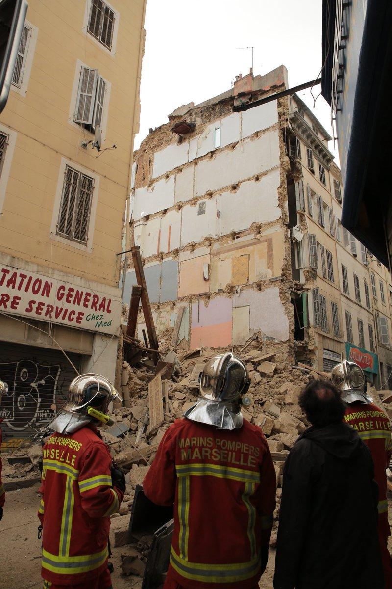 palazzo crollato rue d'aubagne marsiglia