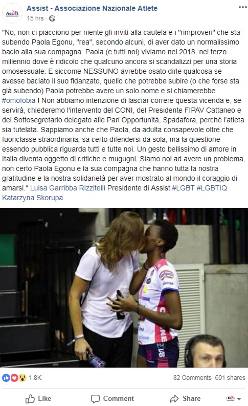 paola egonu kasia Skorupa fidanzata volley - 1