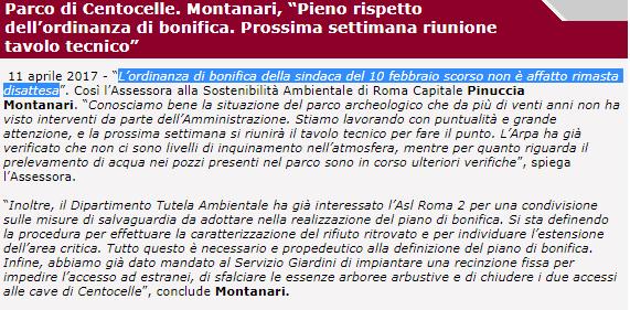 pinuccia montanari m5s roma bonifica centocelle - 2