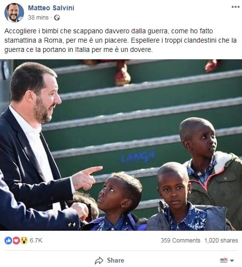 salvini bambini profughi - 1
