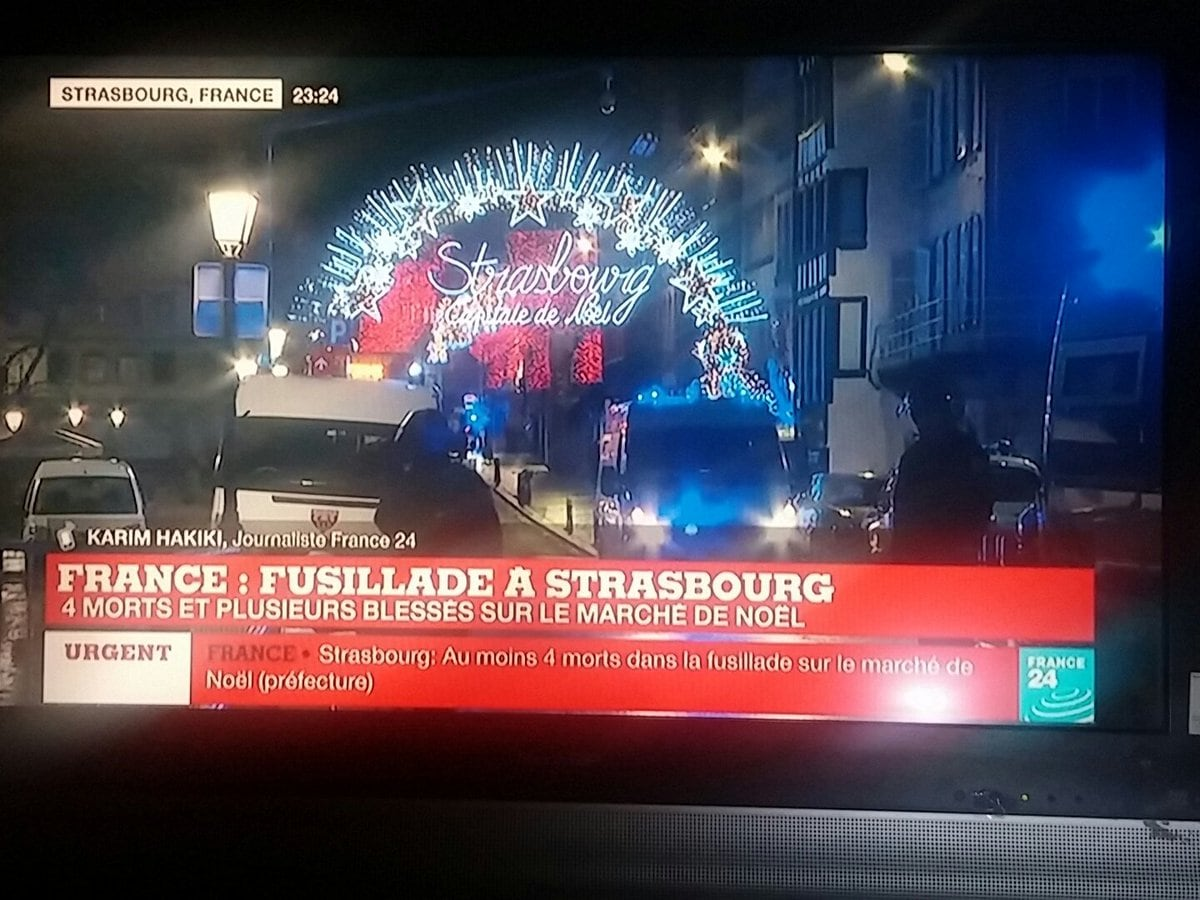 Spari al mercatino di Natale di Strasburgo, 4 morti e 9 feriti