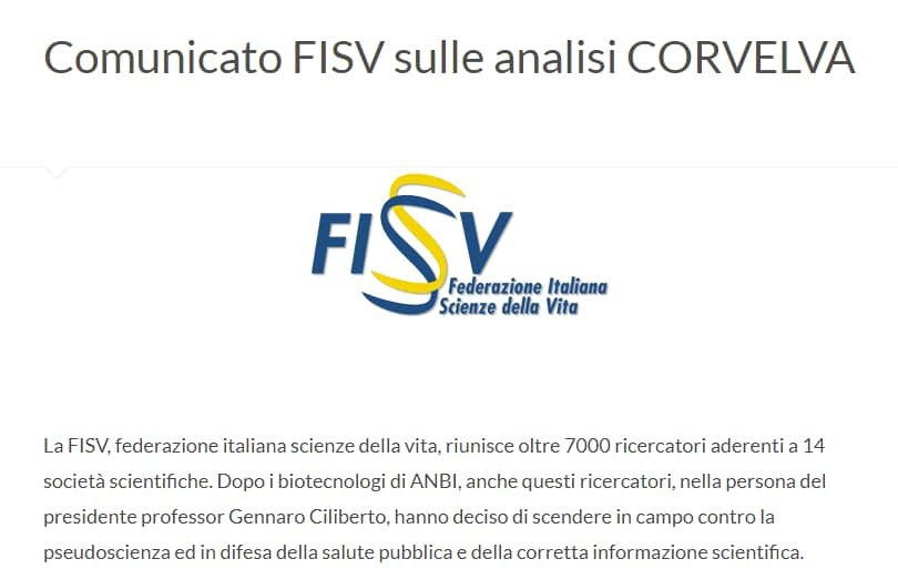 fisv corvelva analisi - 1