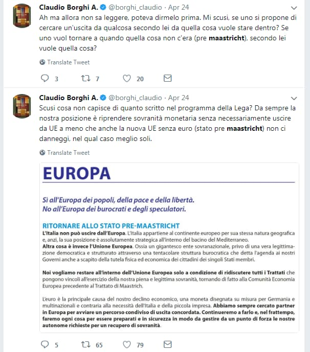 lega no euro borghi bagnai salvini - 4