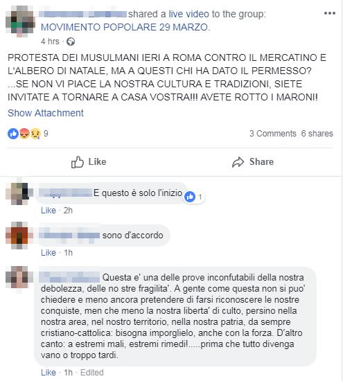 manifestazione musulmana roma contro natale - 3