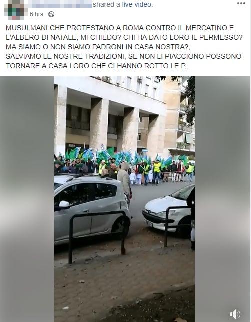 manifestazione musulmana roma contro natale - 6