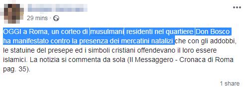 manifestazione musulmana roma contro natale - 8