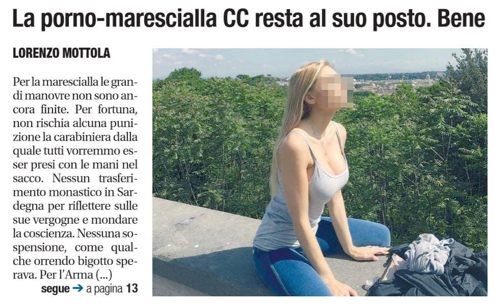 marescialla carabiniera sospesa