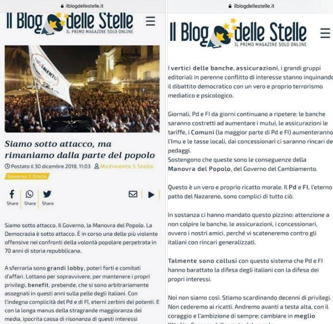 post m5s cancellato blog delle stelle