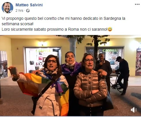 salvini bella ciao - 1