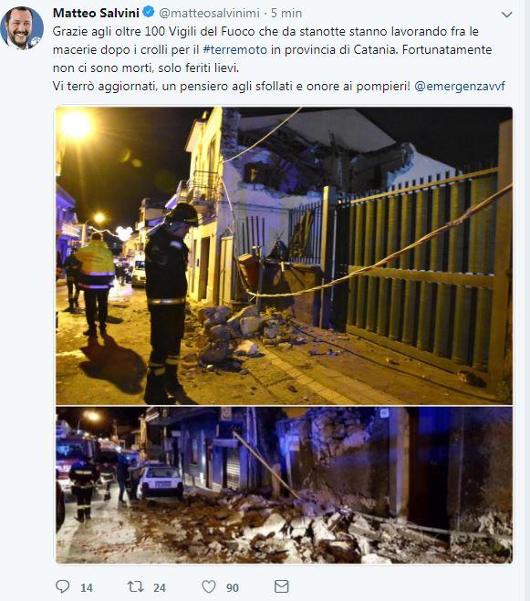 salvini nutella terremoto catania