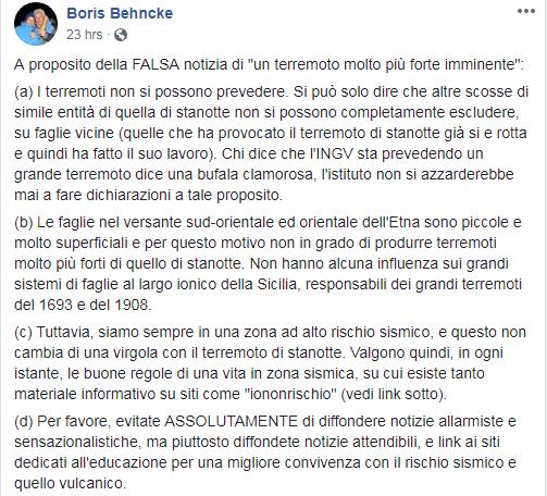 terremoto imminente bufala catania etna whatsapp - 3