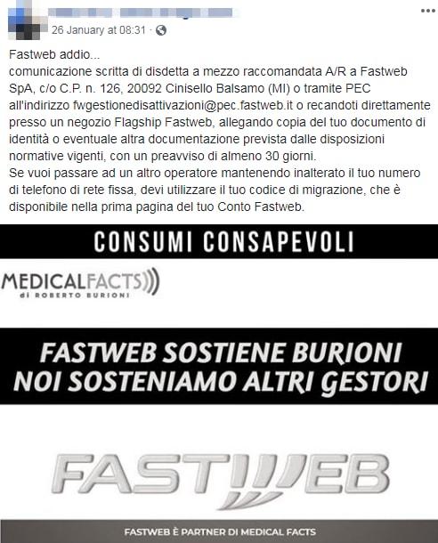 antivaccinisti burioni fastweb boicottaggio - 1