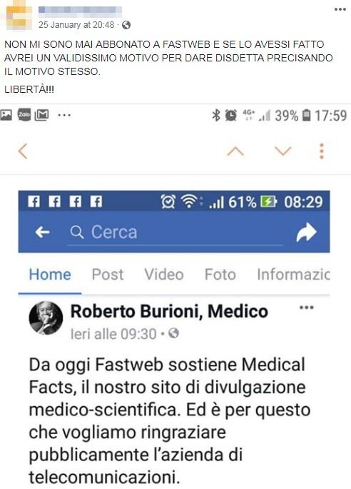 antivaccinisti burioni fastweb boicottaggio - 3