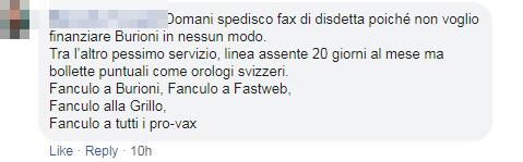 antivaccinisti burioni fastweb boicottaggio - 4