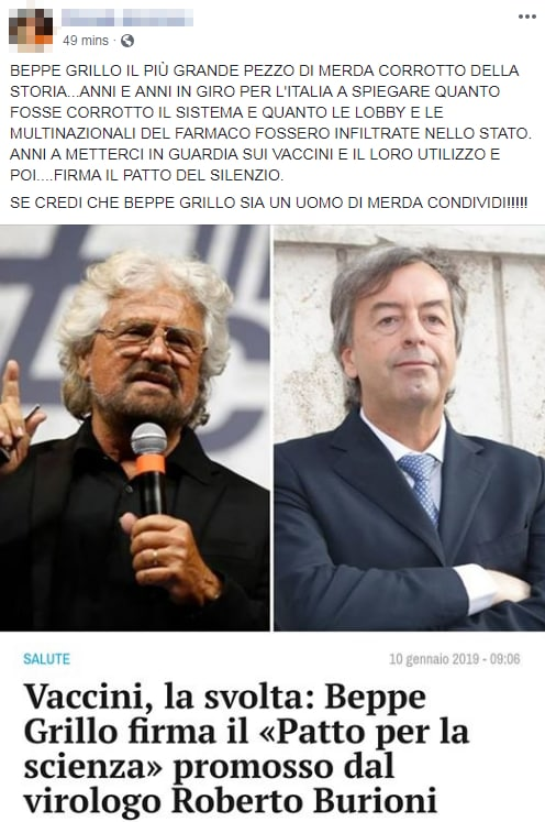 beppe grillo patto per la scienza burioni - 1