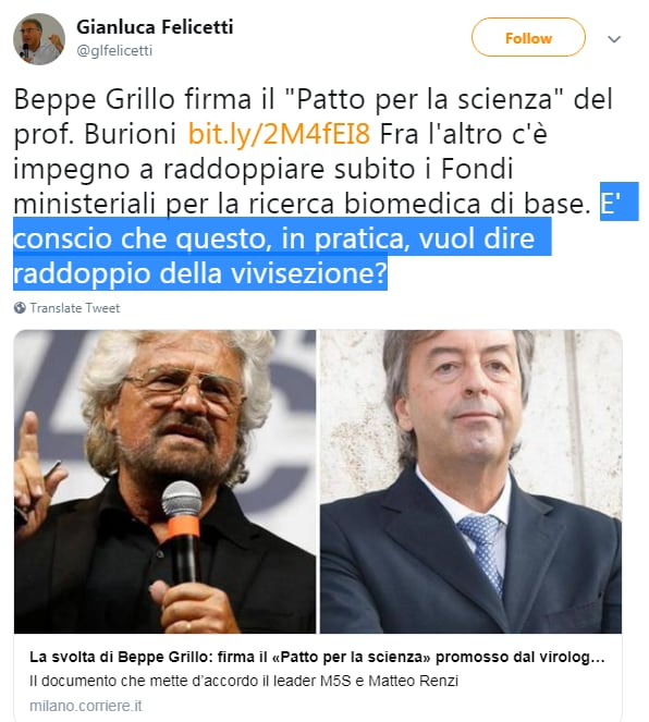 beppe grillo patto per la scienza burioni lav - 1