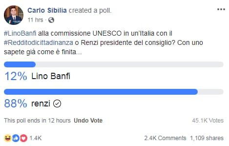 carlo sibilia renzi lino banfi sondaggi - 2