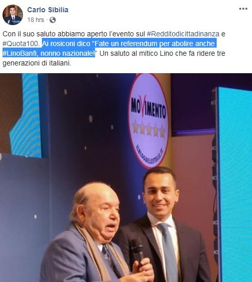 carlo sibilia renzi lino banfi sondaggi - 5