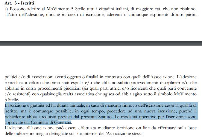 m5s iscrizione iscritti rousseau - 2