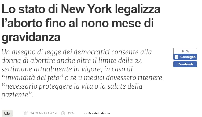 new york aborto nono mese bufala - 1