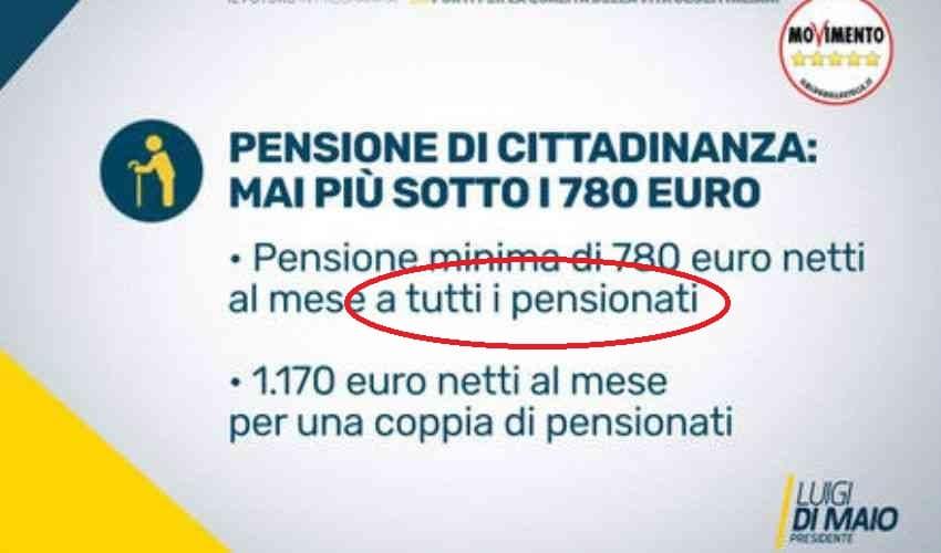 pensione di cittadinanza 67 anni