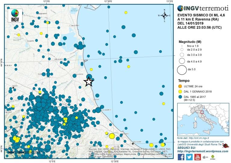 terremoto ravenna 4.6 magnitudo