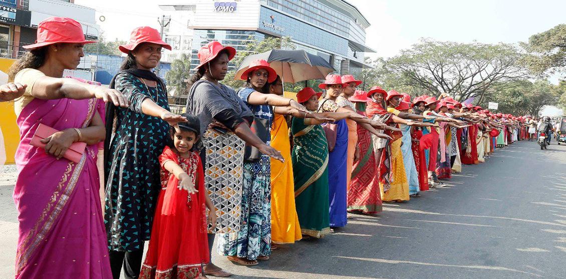 womenswall kerala protesta muro donne gender india - 2