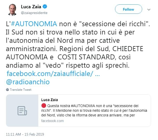 autonomia regionale secessione ricchi zaia - 1
