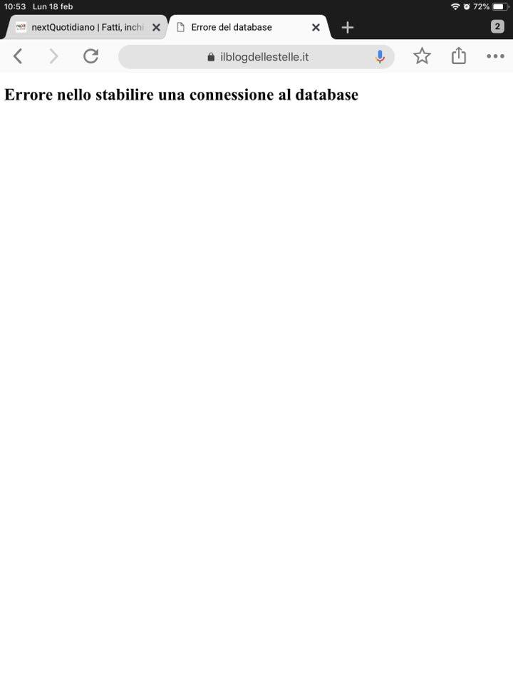 blog delle stelle down