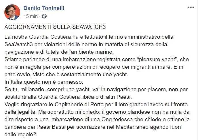 danilo toninelli sea watch pleasure yacht