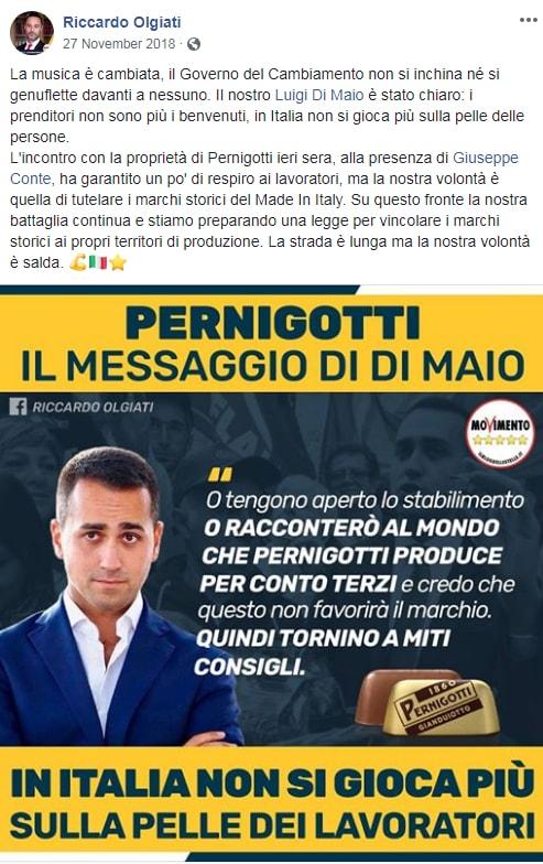 di maio pernigotti licenziamenti - 1