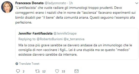 francesca donato hitler vaccini fascismo vax - 1