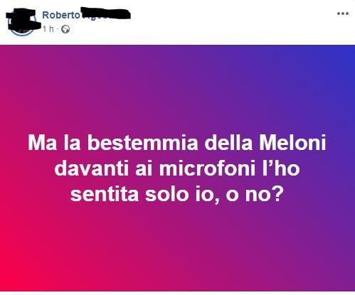giogia meloni bestemmia video