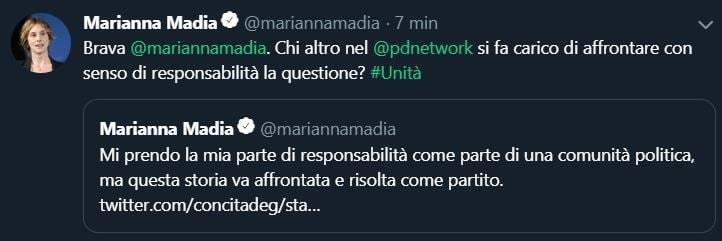 marianna madia tweet 1