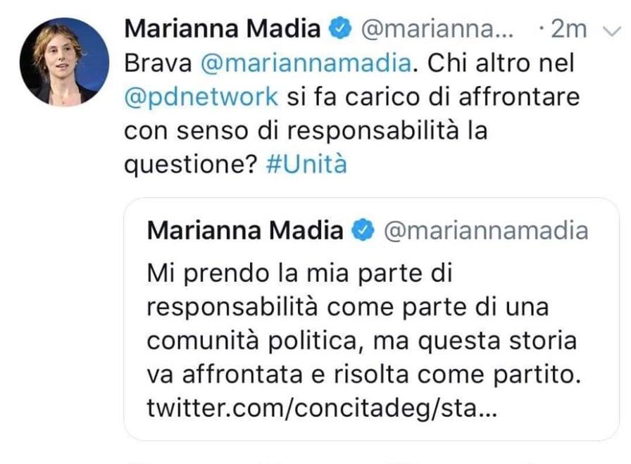 marianna madia tweet