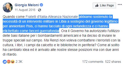 meloni guerra libia francia macron - 17
