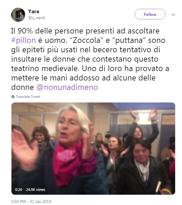 non una di meno pillon donne strattonate - 1