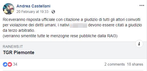 processo cittadini sovrani nativi torino castellani - 2
