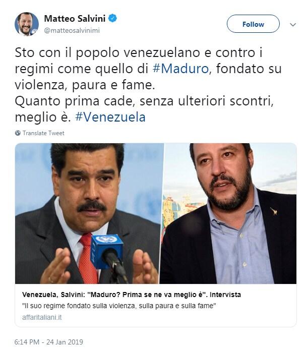 salvini maduro venezuela guaidò - 1
