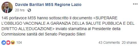 appello 146 m5s vaccini obbligo lorenzin - 3