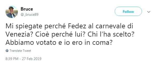 carnevale venezia fedez volo - 2