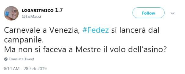 carnevale venezia fedez volo - 3
