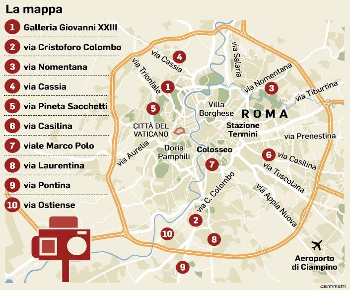 dieci autovelox roma